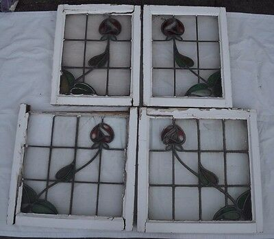 SCRAP. 4 leaded light stained glass windows. S571. DELIVERY OPTIONS