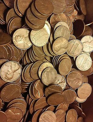 1500 95% copper pennies, 1959 -1981 $15 fv. Circulated UNSEARCHED FOR ERRORS