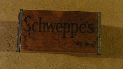 Scweppes Cincinnati Wooden Box Soda Tonic Water Advertising Delivery Memorabilia