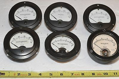 LOT of 6 Vintage Panel Meters - Weston