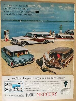 1960 Mercury  3 Model Of Country Cruiser Ad