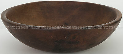Vintage Primitive Munising Wood Chopping Dough Salad Bowl Out of Round 13 1/4 in