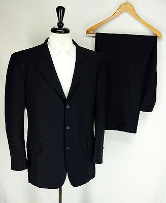 Brooks Brothers Brookscool Navy Blue Pinstripe Lightweight Wool Suit 44R 38W