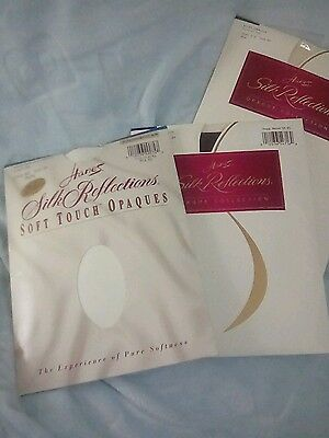 Hanes Silk Reflections Opaque Tights - LOT OF 3 - Assorted - Size EF -