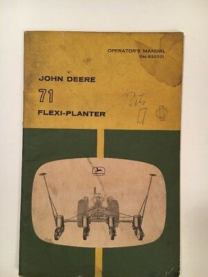 JOHN DEERE OPERATOR'S MANUAL OM-B25321, JD 71 Flexi-Planter