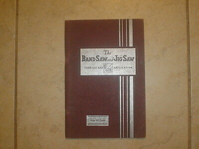 "Antique Walker Turner Publication ""bandsaw And Jigsaw Use & Application"" 1935 Vg"