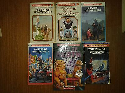 Choose your own Adventure Books X6