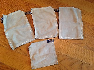 Al Freeland benchrest shooters leather sandbags lot of 4