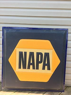 Large Vintage NAPA Quality Car Parts Gas Oil Professional Service Sign