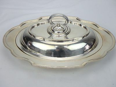 Barbour Silver Company BSCEP Silverplate Tray w/ Cover Removable Handle
