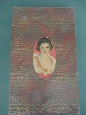 Antique Vintage Large Pretty Lady Cardboard Marmion Candy Box- Lovely