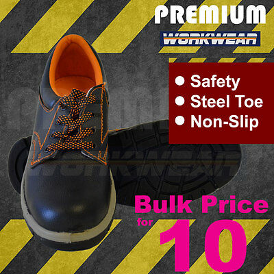 Work Boots - Metal Toe Safety Boots - Anti Slip Boots - Bulk price for 10