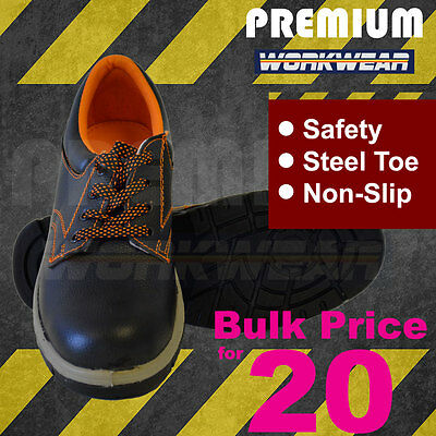 Work Boots - Metal Toe Safety Boots - Anti Slip Boots - Bulk price for 20