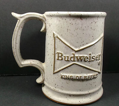 Budweiser Cup Police Academy Conference 1980 Beer Pottery Mug St Louis Tall 4.75
