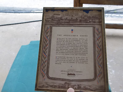 American Oil Company Sinclair The American Creed Framed Morristown,tn + Others
