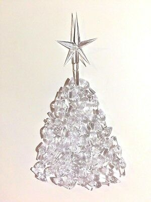 50 CLEAR SMALL TWIST BULBS FLAME PEGS Ceramic Christmas Tree Lights + STAR