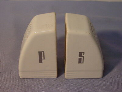 Vintage White Porcelain Art Deco Salt & Pepper Range Set #2