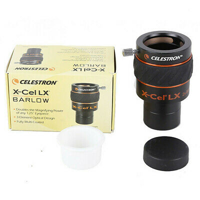 "Celestron X-Cel LX 1.25"" 2x Barlow Lens Fully Multi-coated 93529"