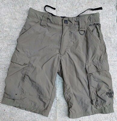 BSA Boy Scouts UNIFORM Centennial Shorts Youth XL Green Cargo Mesh pant