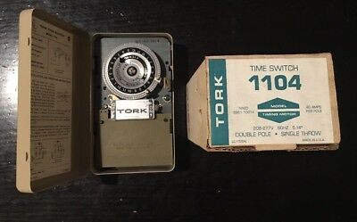 New TORK 1104 24 Hour Time Switch Timer 240 Volts: New in Box