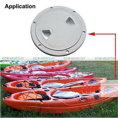 """8"""" Marine Screw Out White Deck Plate Inspection Hatch Plastic Access Boat ECO"""