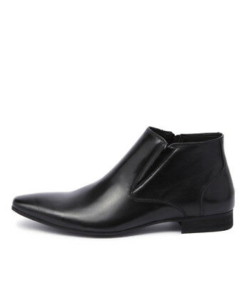 New Uncut Pattinson Black Mens Shoes Dress Boots Ankle