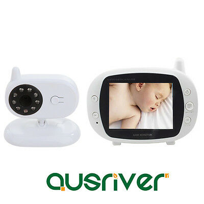 Wireless LCD Digital Baby Monitor Camera Night Vision Care Temperature Display