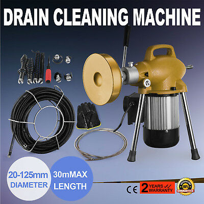 3/4-5 Dia Sectional Pipe Drain Cleaner Machine Portable Plumbing Snake