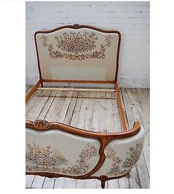 Antique French Louis XV style Decorative Corbeille double bed