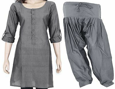 COMBO PACK Indian Ethnic Full Sleeve Cotton Women's Kurti with Button & Patiala