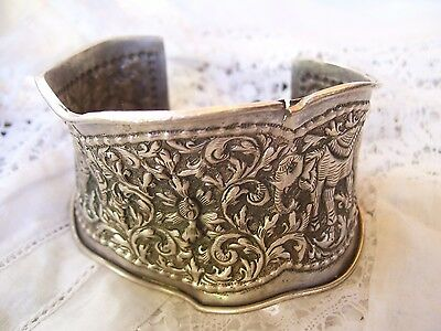 Antique Victorian Anglo Indian Bracelet-34 grams Some Damage-sold As Is.