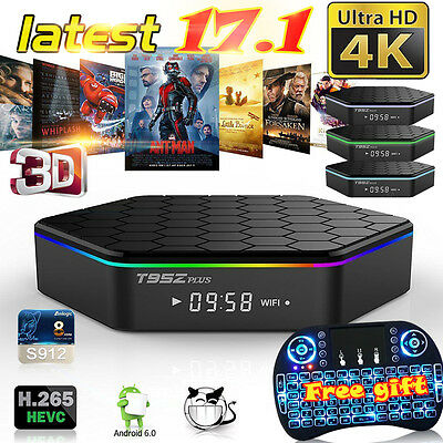 OCTA Core T95Z Plus Android 6.0 TV Box 4K Media Player Dual WIFI + I8 Keyboard
