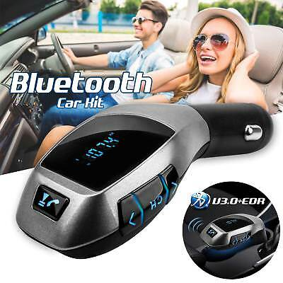 Bluetooth Car Kit MP3 Wireless FM Transmitter USB SD LCD Charger X5 Handsfree UK