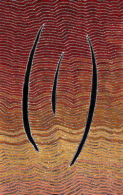 Aboriginal Art Painting by Adam Reid 85cm x 130cm