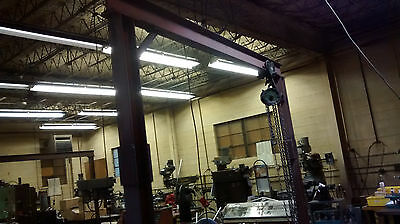 """1/2 Ton Gantry Crane  4"""" I-Beam Construction,trolley and hoist included"""