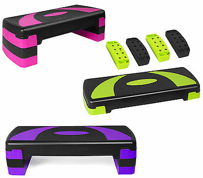 Adjustable Exercise Aerobic Fitness Yoga Gym Workout 3 Level Stepper Board