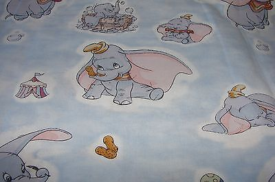 Dumbo Blue Cotton Fitted Cot Sheet Handmade