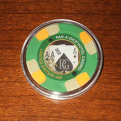 "$25. Par-A-Dice Limited Edition Casino Chip -1 Of Only 500- # ""352"" Live Poker"