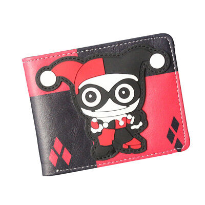 New Harley Quinn Coin Short Wallets Women Mens Cartoon Short Purse