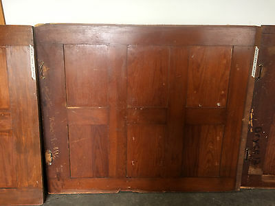 42 Feet of Antique TALL Wainscoting paneling Rescued from School (Set of 8)