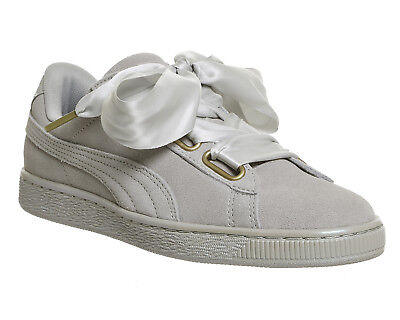 Damenschuhe PUMA SUEDE CAMEO Heart Trainers CAMEO SUEDE BROWN SATIN BOW Trainers ... 32c383