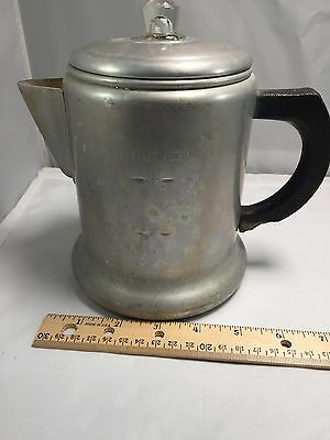 Vintage Maid of Honor Alum. Heavy Weight Coffee Pot 6 Cup Indoor Outdoor USA