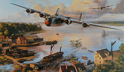 Safe Haven B24 Liberator Aviation Art Print By Nicolas Trudgian