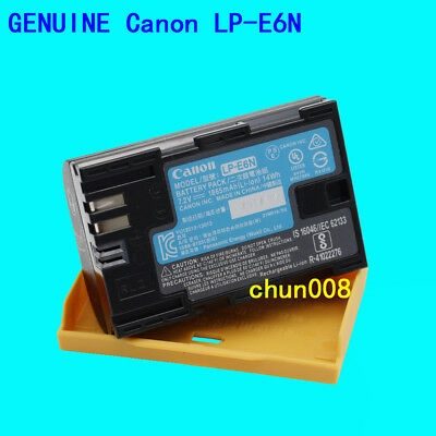 Genuine Canon LP-E6N Battery for EOS 60D 70D 80D 6D 7D 7DII 5DSR 5D 5DIII 5DIV