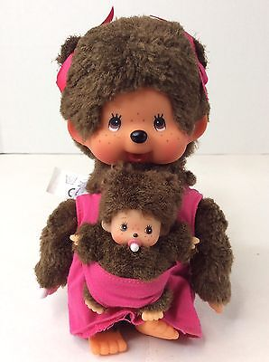 MONCHHICHI Pink Mother Care Baby Original Sekiguchi monkey Collectible Doll toy