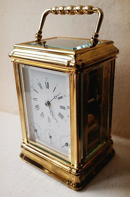 Stunning L'epee Gorge Cased Complication Carriage Clock Very Rare