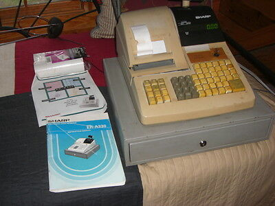 Sharp ER-A330 Electronic Cash Register w/ Drawer and key - Working
