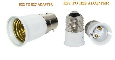Cordgrip Lampholder Bayonet Light Bulb Lamp Holder Fitting for B22 & E27 1+1=3