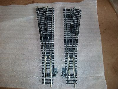 2 x Hornby express points with steel rails