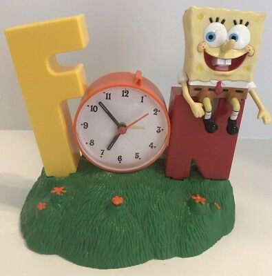 Spongebob Squarepants FUN Singing Alarm Clock Tek Time Viacom 2002 READ